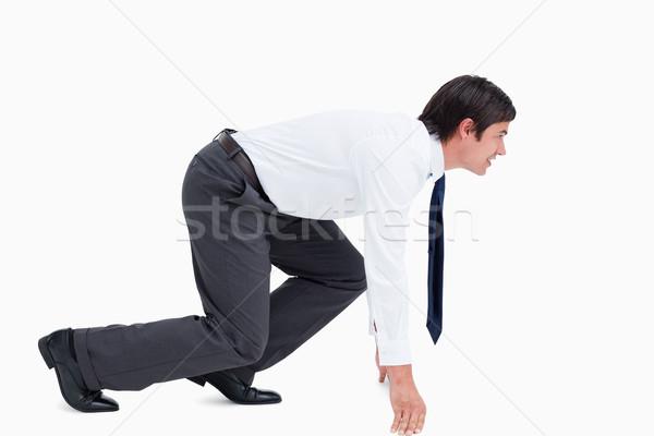 вид сбоку положение белый бизнеса бизнесмен Сток-фото © wavebreak_media