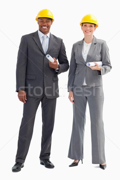 два бумаги улыбка Сток-фото © wavebreak_media