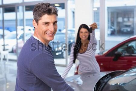 Ludzi zakupu samochodu para kobiet Zdjęcia stock © wavebreak_media