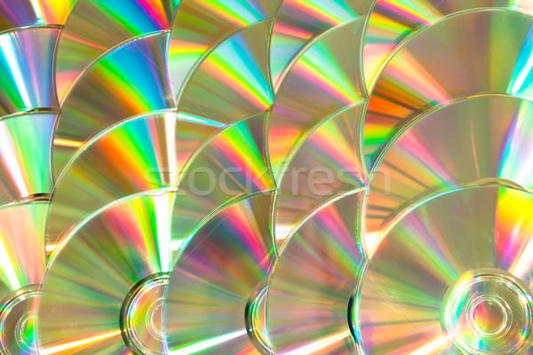 Cd para cima branco arco-íris software dados Foto stock © wavebreak_media