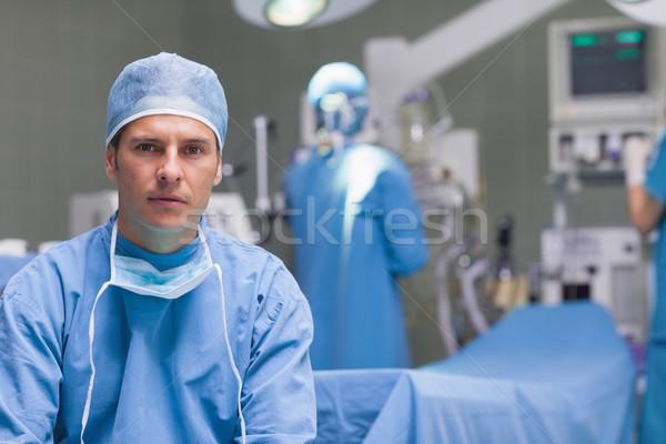 Háziorvos asztal kórház nő férfi orvos Stock fotó © wavebreak_media