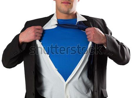 Görüntü işadamı açılış gömlek süper kahraman Stok fotoğraf © wavebreak_media