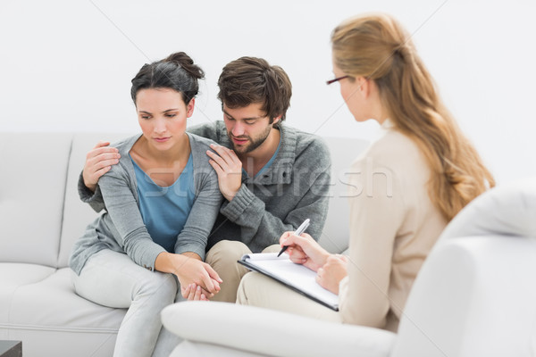 Couple in meeting with a relationship counselor Stock photo © wavebreak_media
