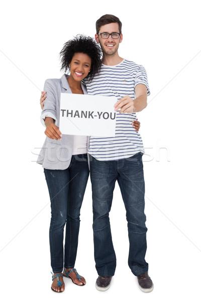 Portre gülen çift teşekkür ederim dikkat Stok fotoğraf © wavebreak_media