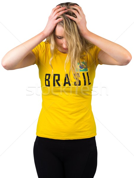 失望した サッカー ファン ブラジル Tシャツ 白 ストックフォト © wavebreak_media