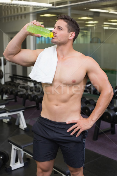 Shirtless bodybuilder drinking sports drink  Stock photo © wavebreak_media