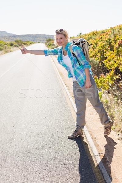 Atraente caminhadas rural estrada Foto stock © wavebreak_media