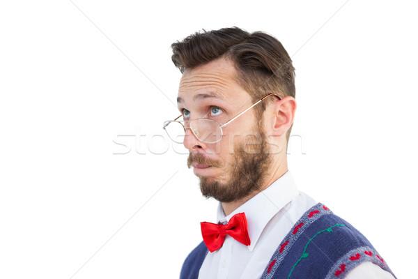 Natal colete branco masculino Foto stock © wavebreak_media