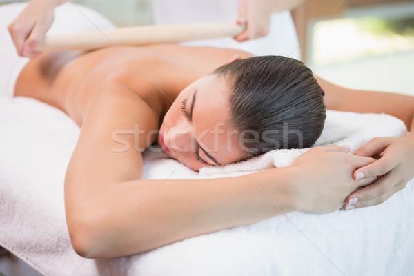 Vonzó nő kezelés fürdő központ közelkép vonzó Stock fotó © wavebreak_media