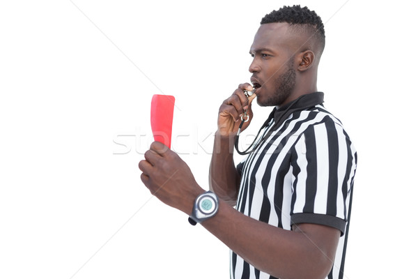 Serious referee showing red card Stock photo © wavebreak_media