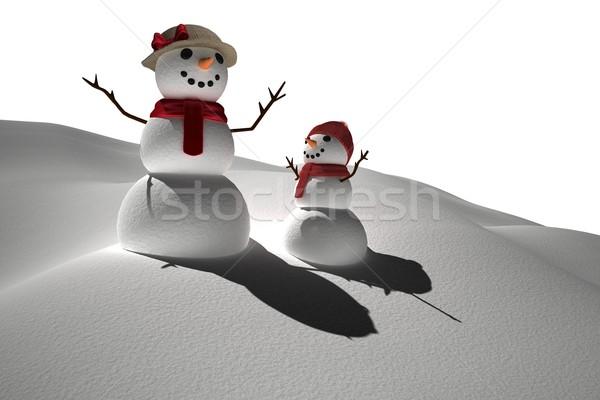 Digitálisan generált fehér hó emberek Stock fotó © wavebreak_media
