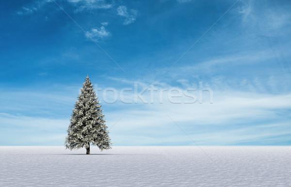 Paysage généré forêt glace Photo stock © wavebreak_media