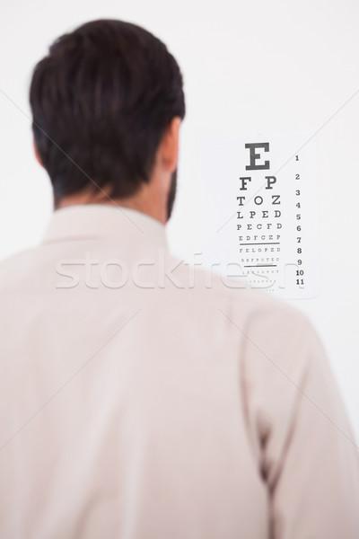 男 スーツ 視力検査 文字 白 ストックフォト © wavebreak_media