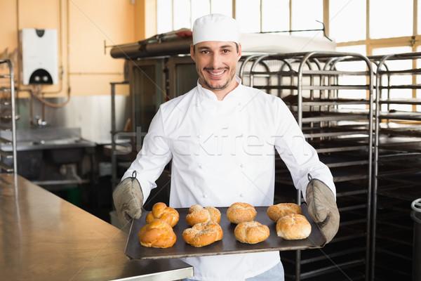 Бейкер лоток кухне хлебобулочные Сток-фото © wavebreak_media