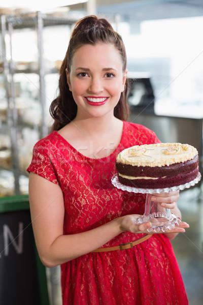 Cafe eigenaar glimlachend camera business gelukkig Stockfoto © wavebreak_media