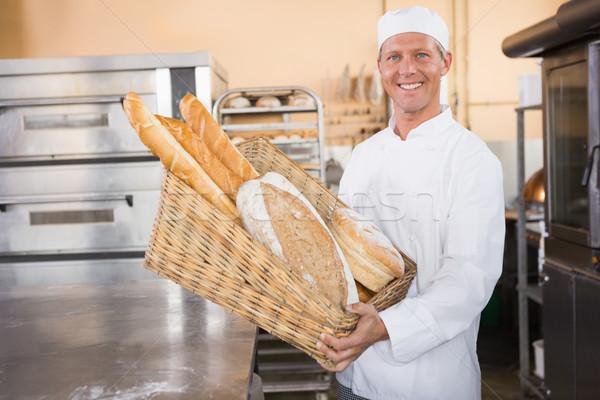 Fırıncı sepet ekmek mutfak fırın Stok fotoğraf © wavebreak_media