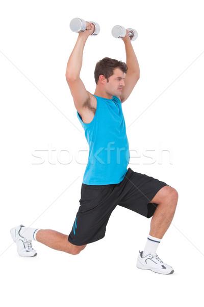 Caber homem halteres fitness saúde Foto stock © wavebreak_media
