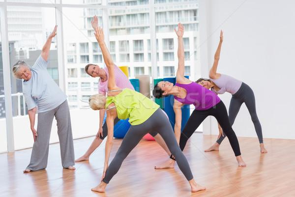 Kobiet wykonywania siłowni kobieta Zdjęcia stock © wavebreak_media