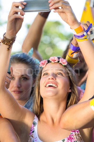 Eccitato musica fan festival party folla Foto d'archivio © wavebreak_media