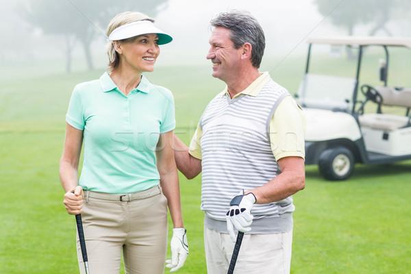 счастливым Гольф пару другой гольф Сток-фото © wavebreak_media
