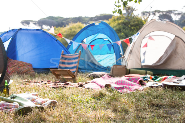 Vacío campamento festival de música verano banderas Foto stock © wavebreak_media