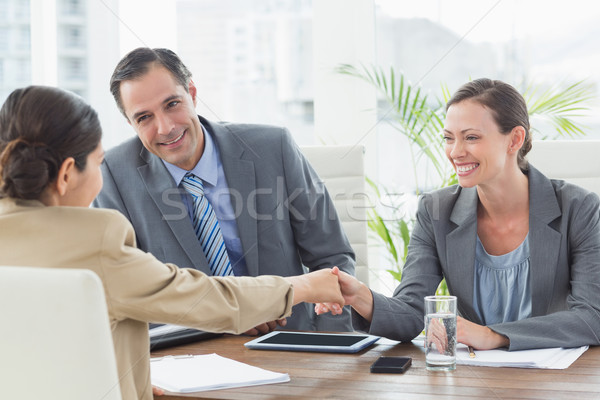 Ludzi biznesu wywiad biuro człowiek laptop technologii Zdjęcia stock © wavebreak_media