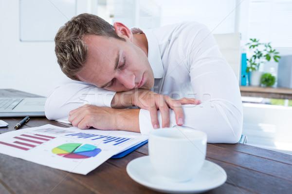 Kimerült üzletember alszik asztal iroda üzlet Stock fotó © wavebreak_media