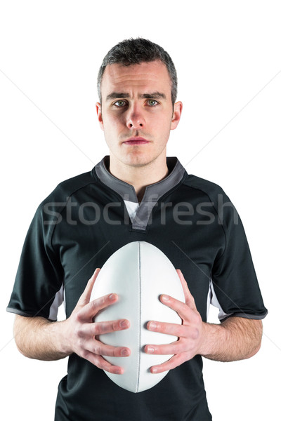 Rugby joueur ballon de rugby portrait sport Photo stock © wavebreak_media