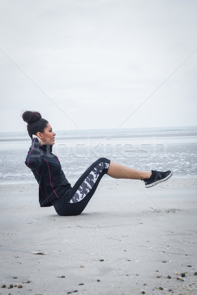 Fit girl working out on cold day Stock photo © wavebreak_media