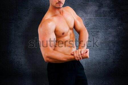сильный Культурист руки черный Sexy Сток-фото © wavebreak_media