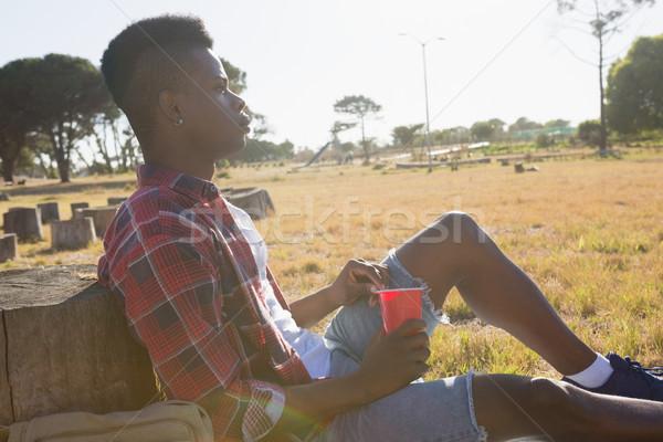 Man resting in the park on a sunny day Stock photo © wavebreak_media