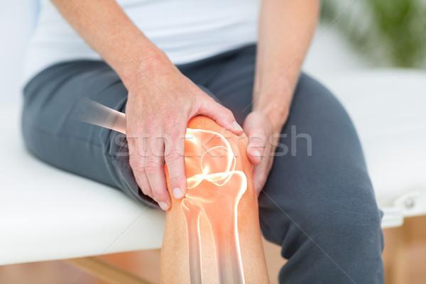 Homme souffrance genou crampe Photo stock © wavebreak_media