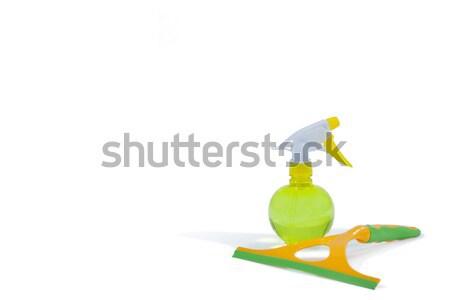 Mosószer spray üveg ablak fehér fitnessz Stock fotó © wavebreak_media