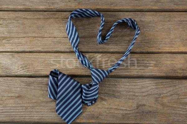 Kilátás nyakkendő szív alak asztal fa asztal divat Stock fotó © wavebreak_media