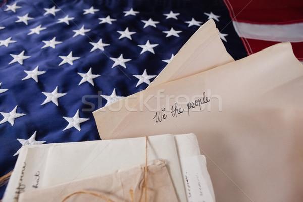 Legal documentos bandeira americana papel fundo Foto stock © wavebreak_media