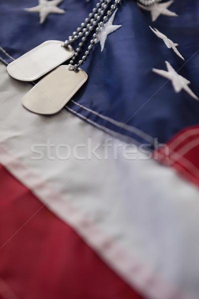Cão membro bandeira americana quadro completo bandeira Foto stock © wavebreak_media