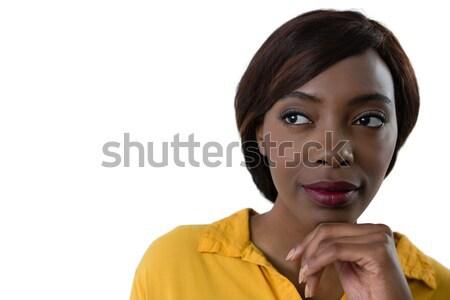 женщину стороны подбородок белый Сток-фото © wavebreak_media