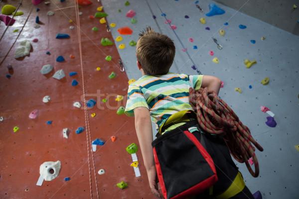 Boy standing with rope in fitness studio Stock photo © wavebreak_media