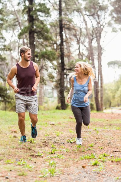 小さな 幸せ ジョギング を実行して 自然 女性 ストックフォト © wavebreak_media