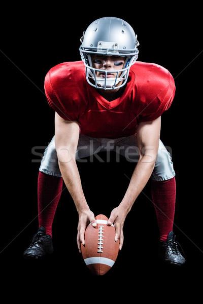 спортсмен американский футбола играет черный спорт Сток-фото © wavebreak_media
