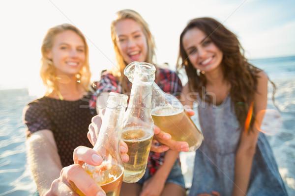 Friends toasting on the beach Stock photo © wavebreak_media