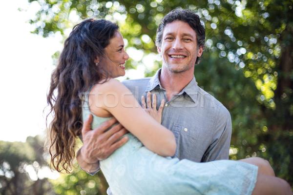 портрет улыбаясь муж жена счастливым Сток-фото © wavebreak_media