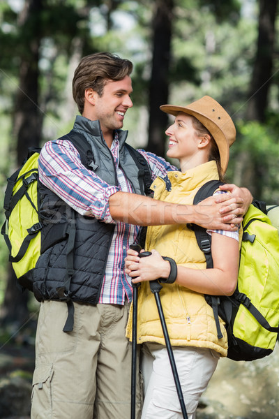 Young couple embracing during hiking  Stock photo © wavebreak_media