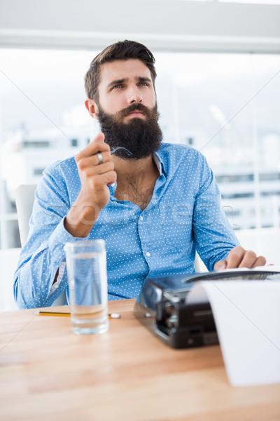 Tipo escritor oficina agua hombre Foto stock © wavebreak_media