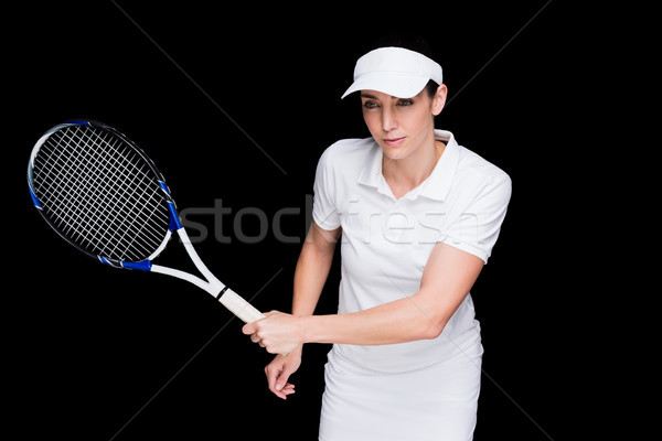 Female athlete playing tennis Stock photo © wavebreak_media