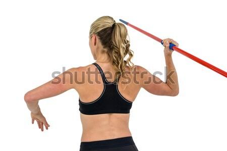 Atlet kadın oyun ayakta atletizm kafkas Stok fotoğraf © wavebreak_media