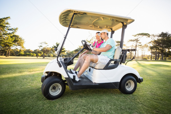 Golfer paar vergadering golf man Stockfoto © wavebreak_media
