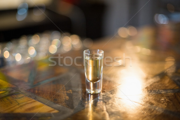 Tequila shot glass on counter Stock photo © wavebreak_media