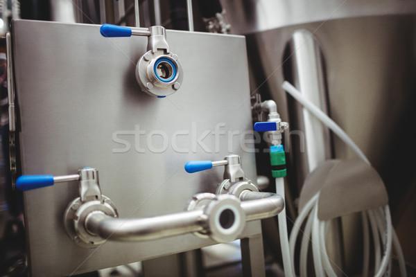 Pijpen machines brouwerij metalen technologie industrie Stockfoto © wavebreak_media