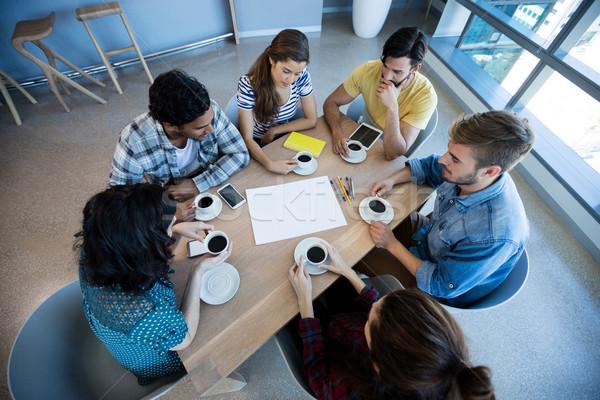 Creative бизнес-команды заседание кофе конференц-зал служба Сток-фото © wavebreak_media